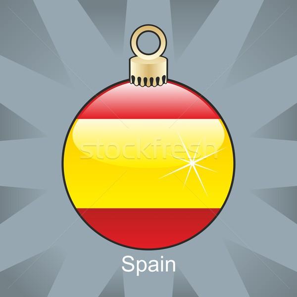 isolated spain flag in christmas bulb shape Stock photo © PilgrimArtworks