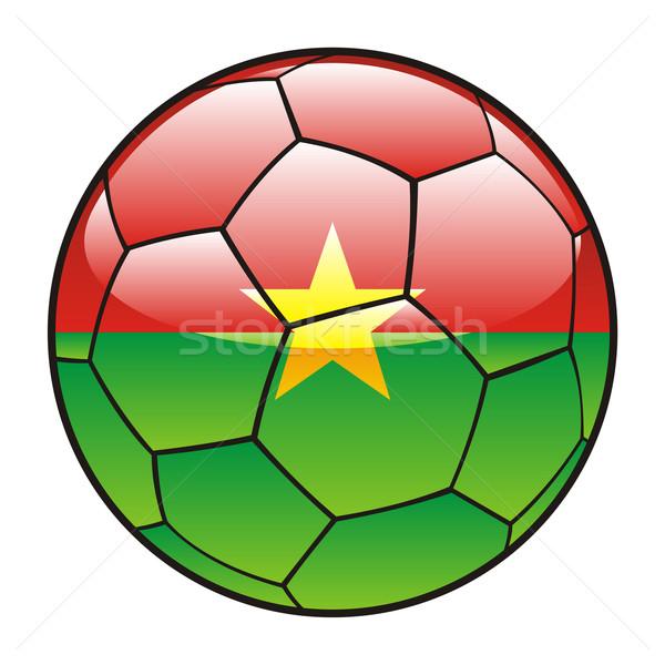 Burkina Faso flag on soccer ball Stock photo © PilgrimArtworks