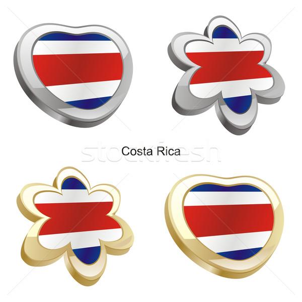 Коста-Рика флаг сердце цветок форма Сток-фото © PilgrimArtworks