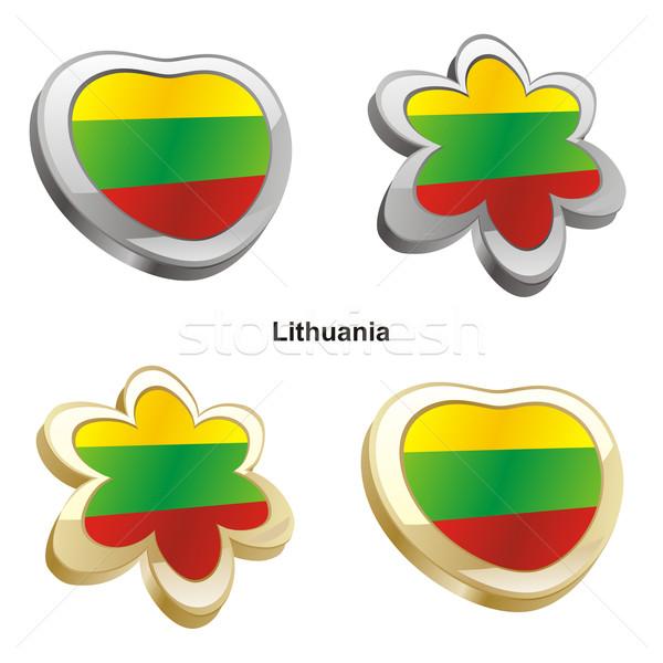 Litouwen vlag hart bloem vorm Stockfoto © PilgrimArtworks
