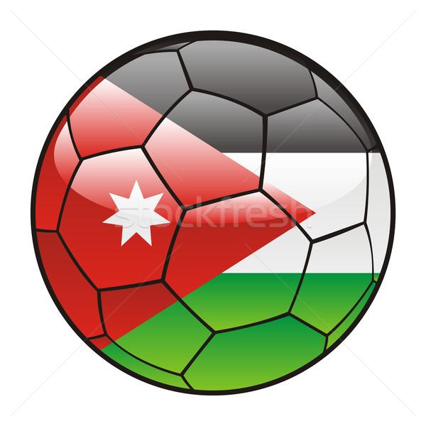 Jordan flag on soccer ball Stock photo © PilgrimArtworks