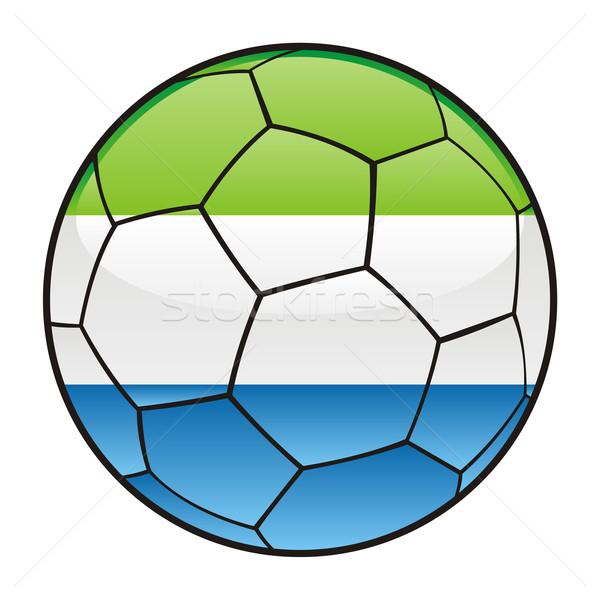 Stock photo: Sierra Leone flag on soccer ball