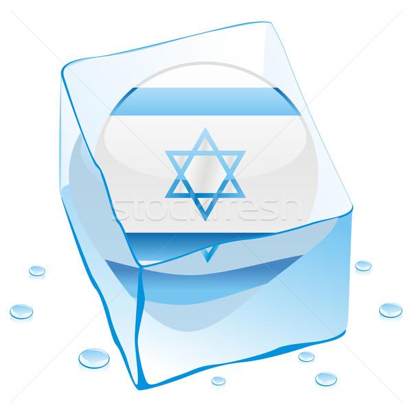 イスラエル ボタン フラグ 凍結 アイスキューブ ストックフォト © PilgrimArtworks