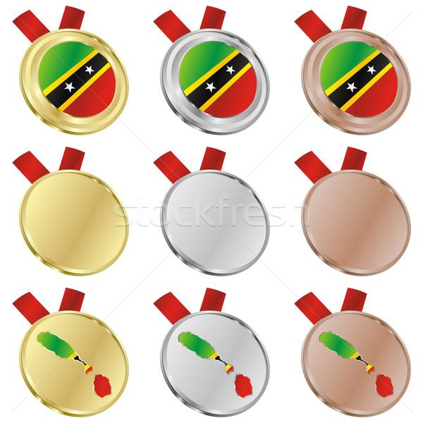 Vector bandera medalla formas Foto stock © PilgrimArtworks