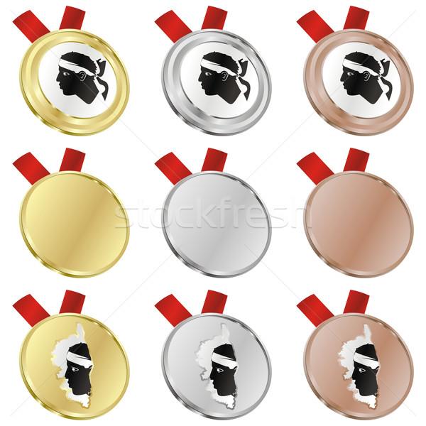 Corse vecteur pavillon médaille Photo stock © PilgrimArtworks