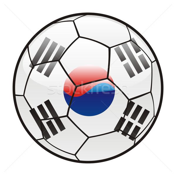 Южная Корея флаг футбольным мячом Футбол футбола Сток-фото © PilgrimArtworks