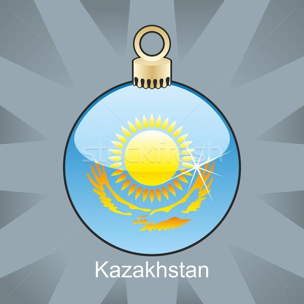 Aislado Kazajstán bandera Navidad bombilla forma Foto stock © PilgrimArtworks