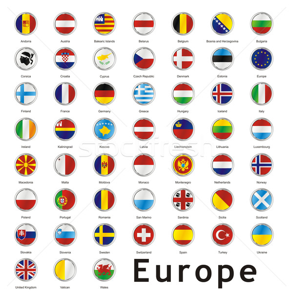 isolated european flags Stock photo © PilgrimArtworks