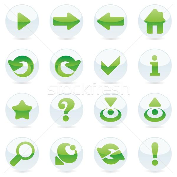 Izolált internetes ikonok szerkeszthető internet csillag segítség Stock fotó © PilgrimArtworks