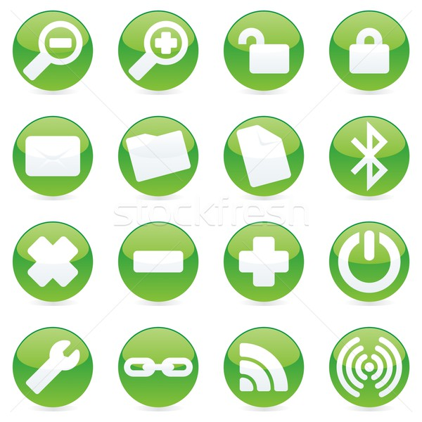 vector web icons with details ready to use Stock photo © PilgrimArtworks