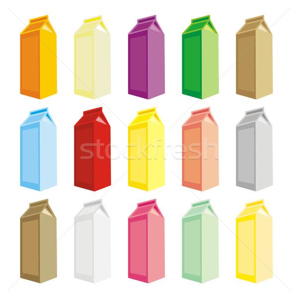Isolato cartone scatole luce mucca Foto d'archivio © PilgrimArtworks