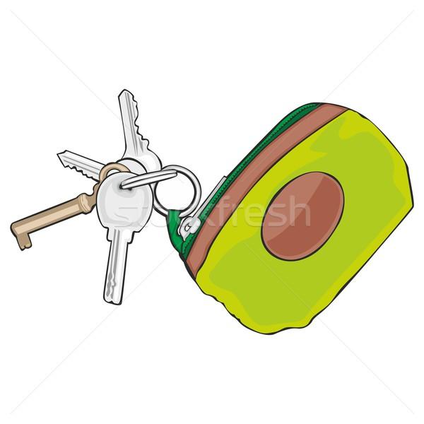 isolated colored keyholder with keys Stock photo © PilgrimArtworks