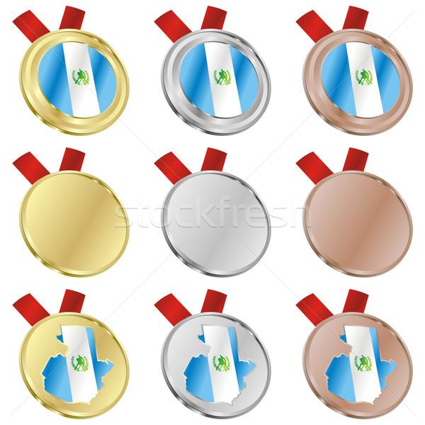 Guatemala vector vlag medaille Stockfoto © PilgrimArtworks