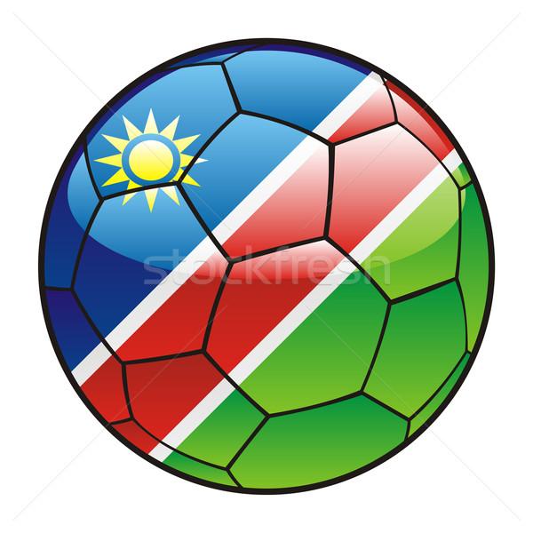 Namíbia zászló futballabda futball sport futball Stock fotó © PilgrimArtworks