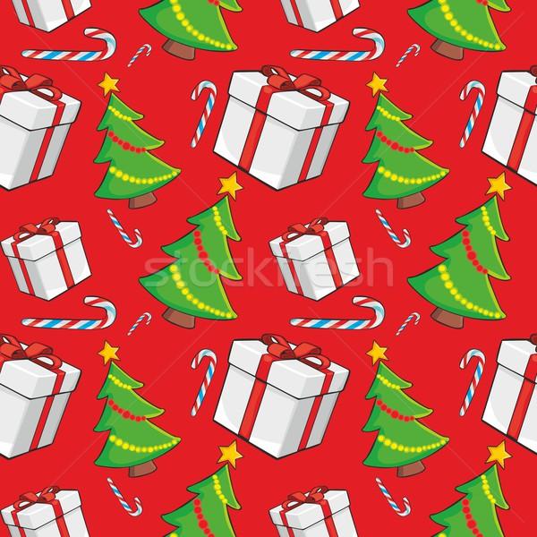 Natal caixa vermelho dom Foto stock © PilgrimArtworks