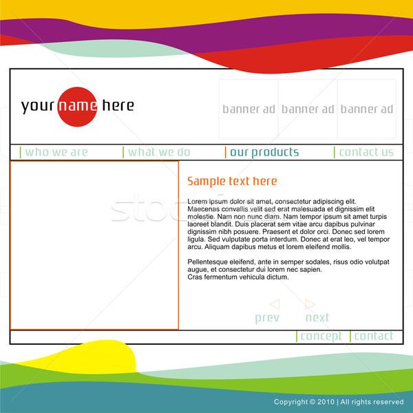 vector template web site Stock photo © PilgrimArtworks