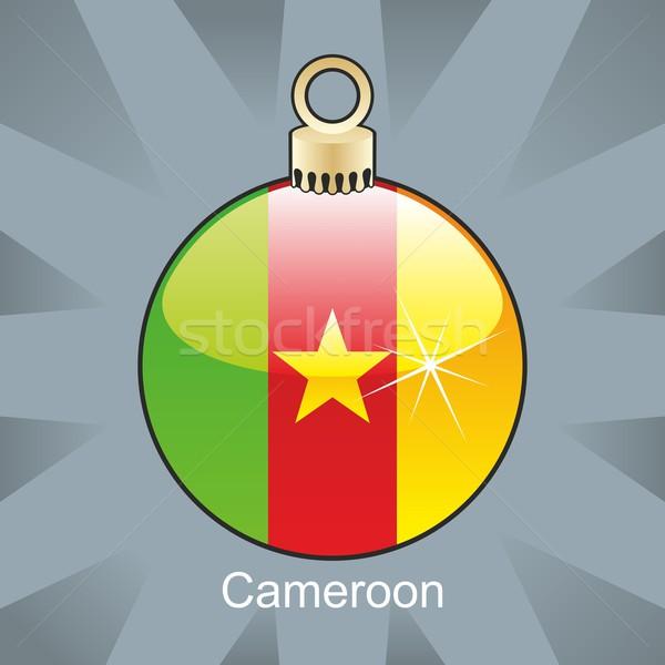 Geïsoleerd Kameroen vlag christmas lamp vorm Stockfoto © PilgrimArtworks