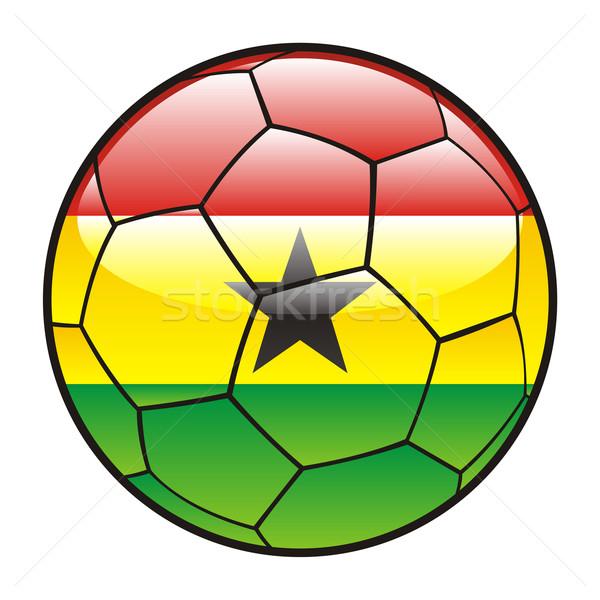 ガーナ フラグ サッカーボール サッカー スポーツ ストックフォト © PilgrimArtworks