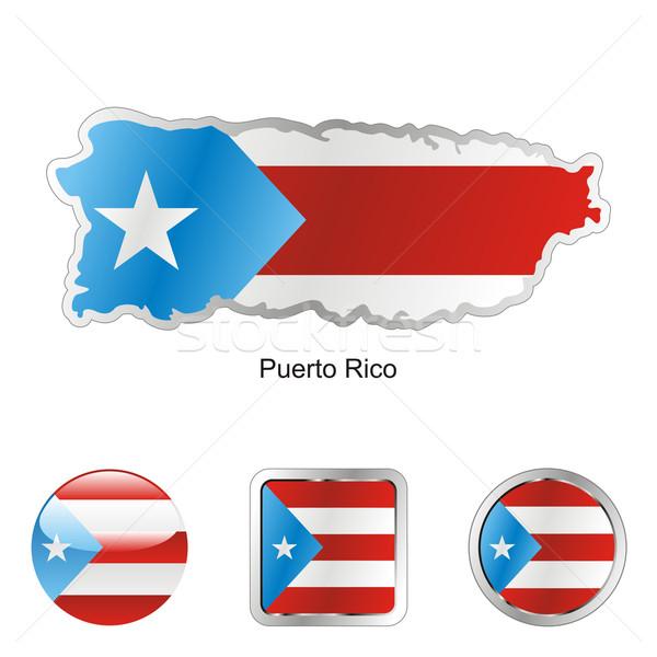 Puerto Rico kaart web knoppen Stockfoto © PilgrimArtworks