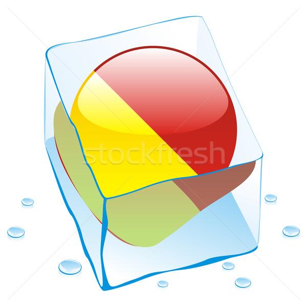 Sicilia botón bandera congelado cubo de hielo Foto stock © PilgrimArtworks