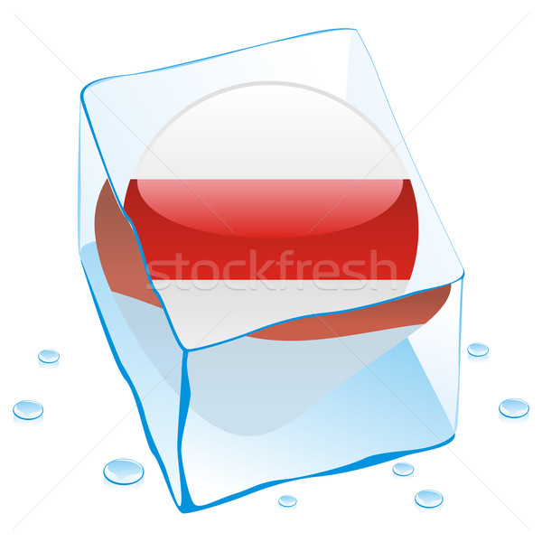 belarus button flag frozen in ice cube Stock photo © PilgrimArtworks