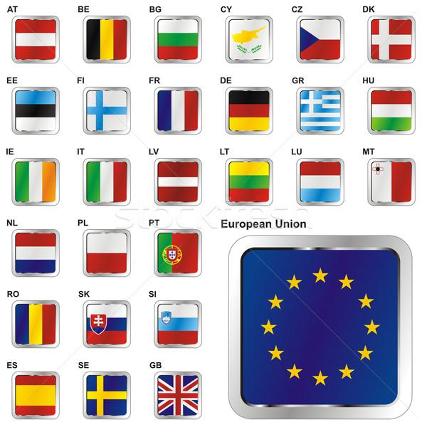 Stockfoto: Alle · lid · europese · unie · web