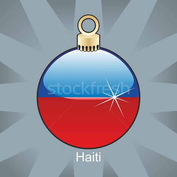 Stockfoto: Geïsoleerd · Haïti · vlag · christmas · lamp · vorm