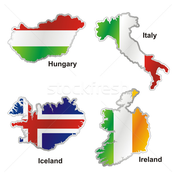 isolated international flag in map shape Stock photo © PilgrimArtworks