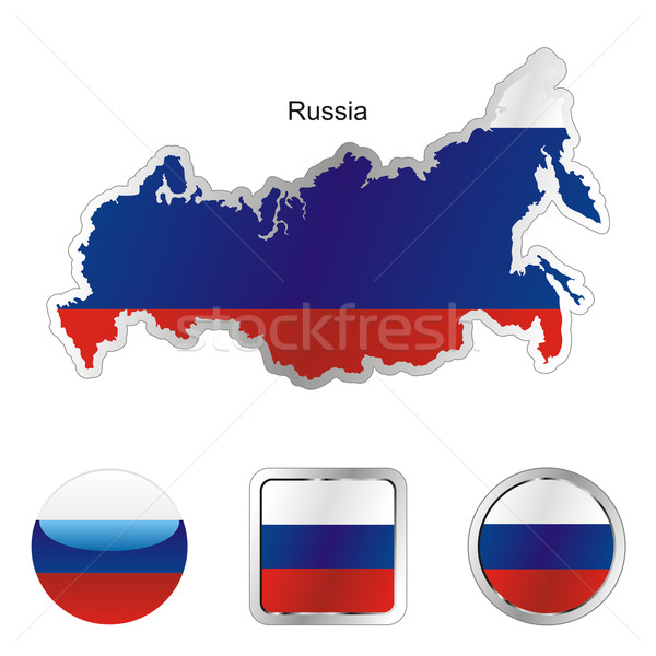 russia in map and internet buttons shape Stock photo © PilgrimArtworks