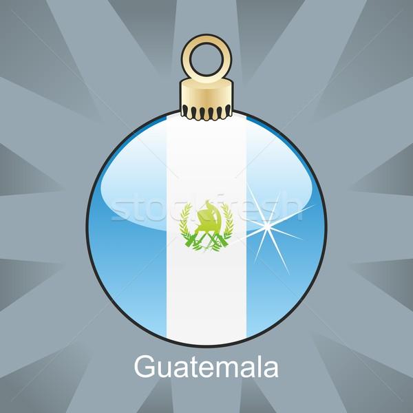 изолированный Гватемала флаг Рождества лампа форма Сток-фото © PilgrimArtworks
