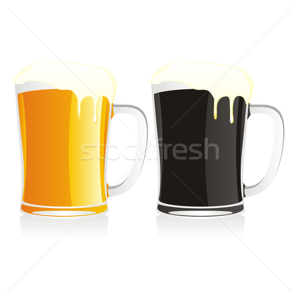 two isolated beer mugs Stock photo © PilgrimArtworks