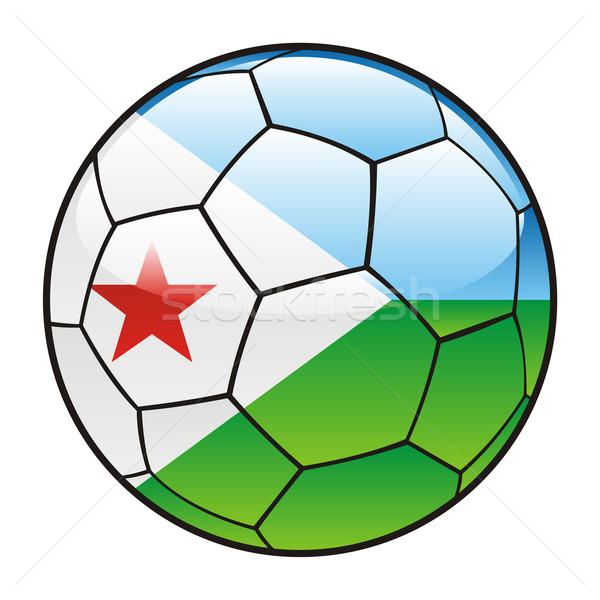 Джибути флаг футбольным мячом спорт футбола Сток-фото © PilgrimArtworks