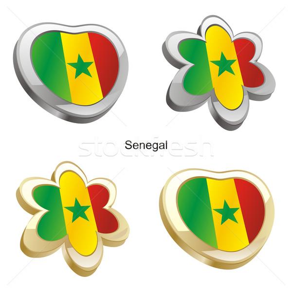 セネガル フラグ 中心 花 ストックフォト © PilgrimArtworks