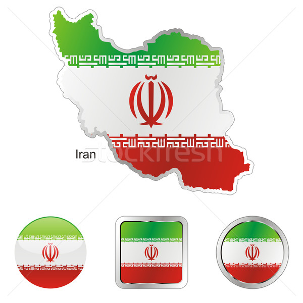 iran in map and internet buttons shape Stock photo © PilgrimArtworks