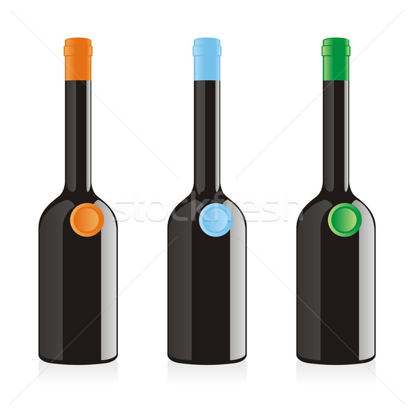 изолированный бальзамического уксуса бутылок набор искусства Сток-фото © PilgrimArtworks