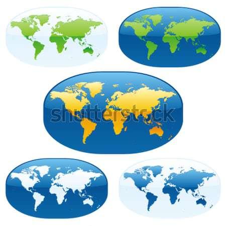 Hartă A Lumii Globuri Vector Colorat Pământ