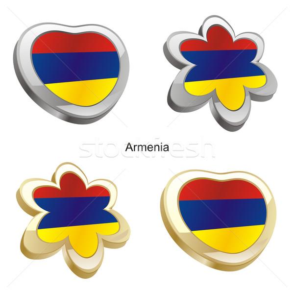 Armênia bandeira coração flor forma Foto stock © PilgrimArtworks