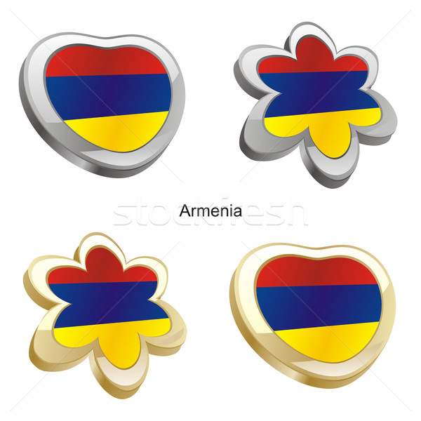Armenië vlag hart bloem vorm Stockfoto © PilgrimArtworks