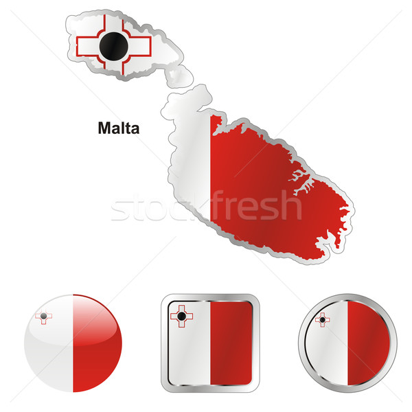 Malta kaart web knoppen Stockfoto © PilgrimArtworks