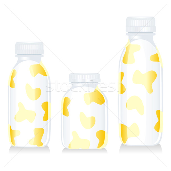 isolated funny milk with vanilla bottles Stock photo © PilgrimArtworks