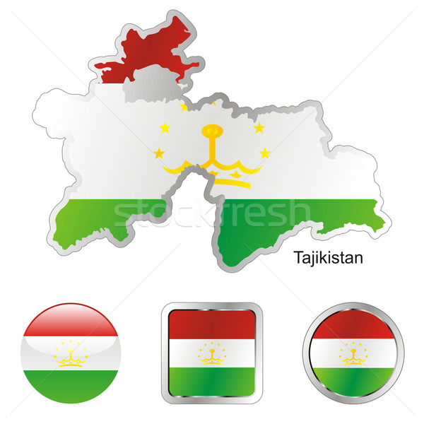 tajikistan in map and internet buttons shape Stock photo © PilgrimArtworks