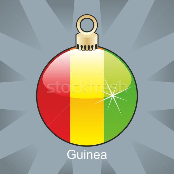 Stockfoto: Geïsoleerd · Guinea · vlag · christmas · lamp · vorm