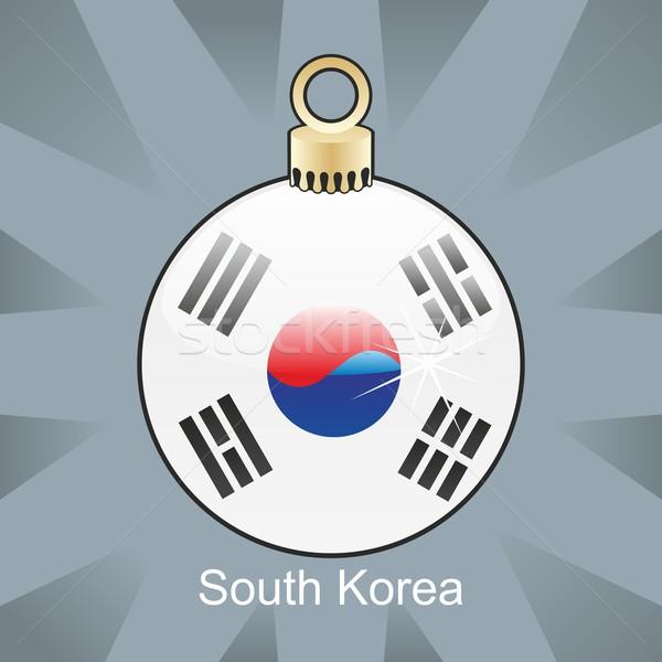 Geïsoleerd Zuid-Korea vlag christmas lamp vorm Stockfoto © PilgrimArtworks