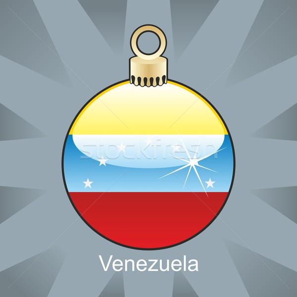 孤立した ベネズエラ フラグ クリスマス 電球 ストックフォト © PilgrimArtworks