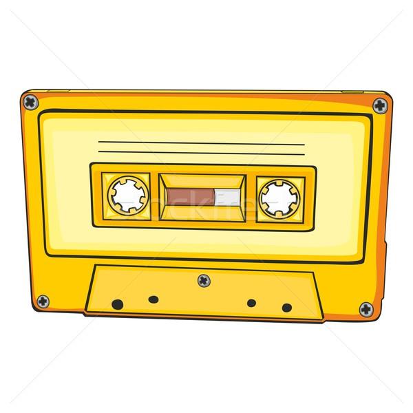 Vektor audio kazetta szerkeszthető hang zenekar Stock fotó © PilgrimArtworks