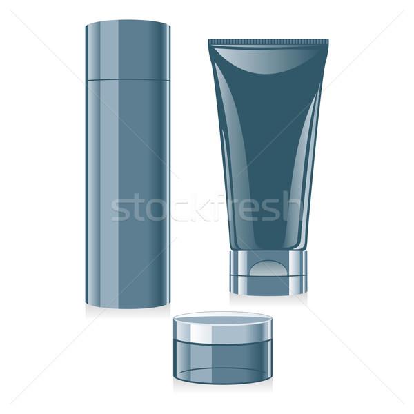 Isolado cosméticos conjunto cara corpo Foto stock © PilgrimArtworks
