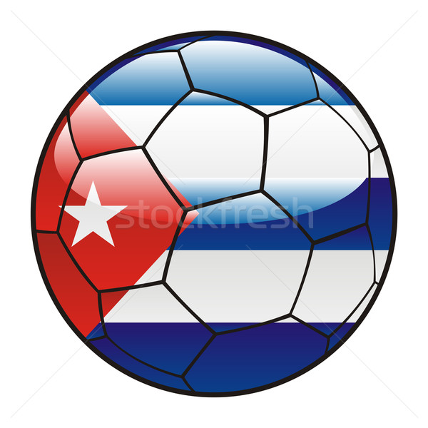 Cuba pavillon ballon football sport football Photo stock © PilgrimArtworks