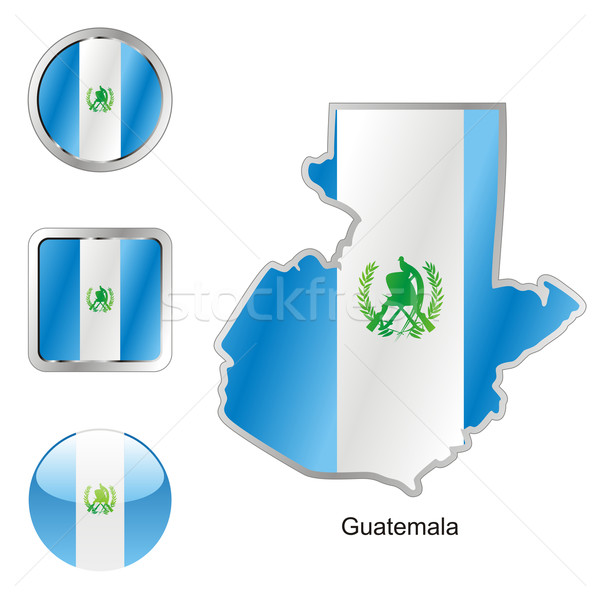 Guatemala mapa teia botões formas Foto stock © PilgrimArtworks