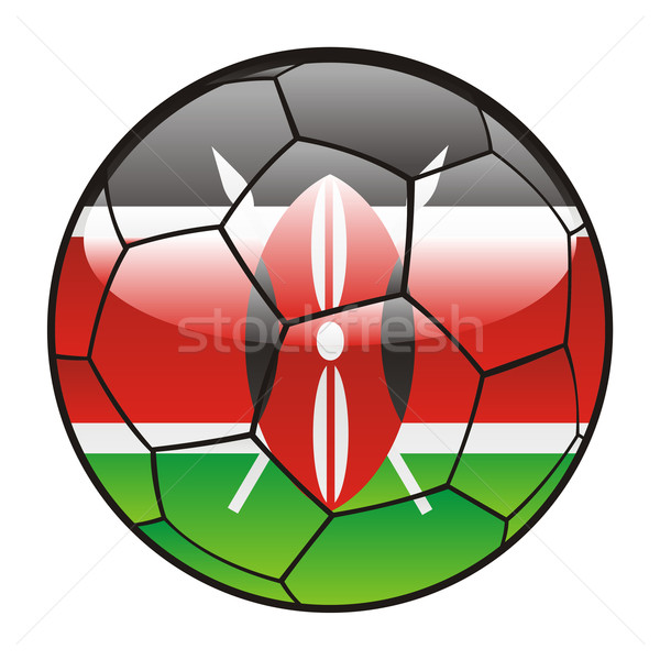 Kenia bandera balón de fútbol deporte fútbol Foto stock © PilgrimArtworks