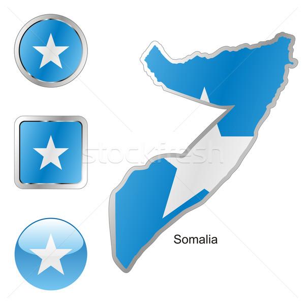 Somalie carte web boutons Photo stock © PilgrimArtworks